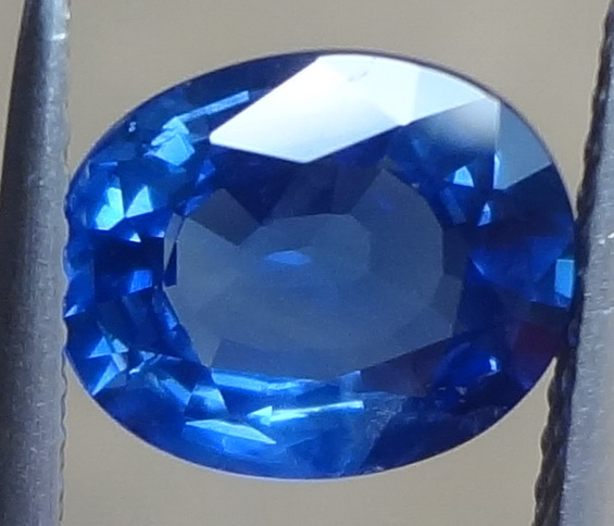 Bright blue Sapphire from Madagascar