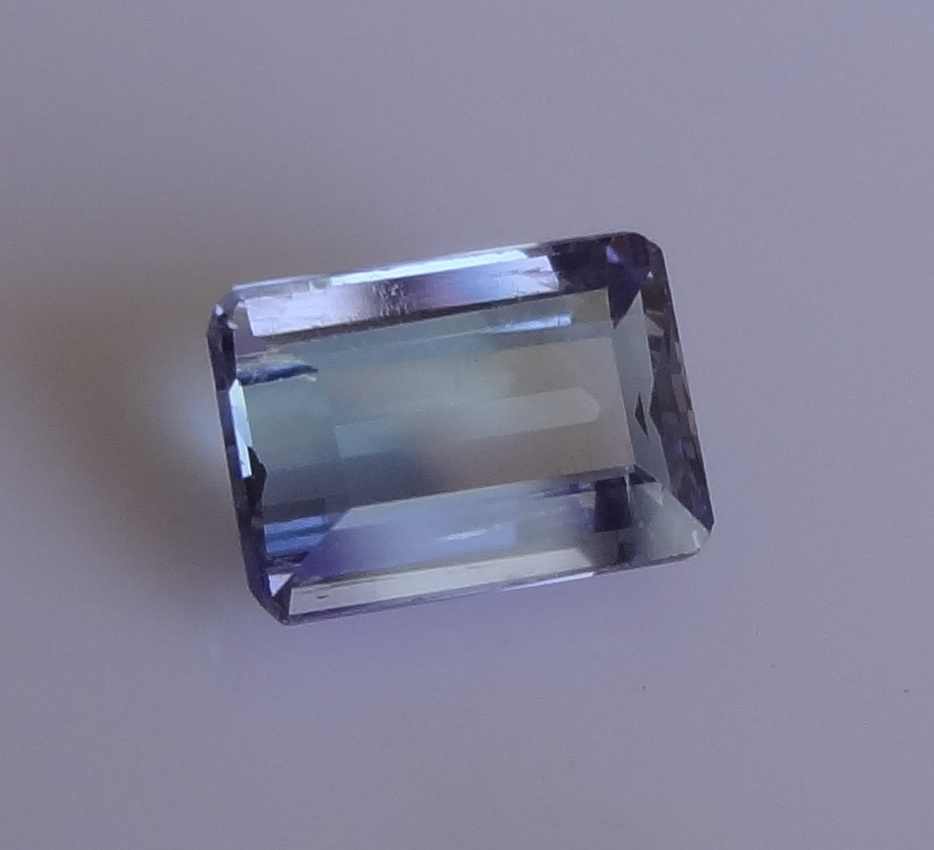 Faceted Tanzanite.