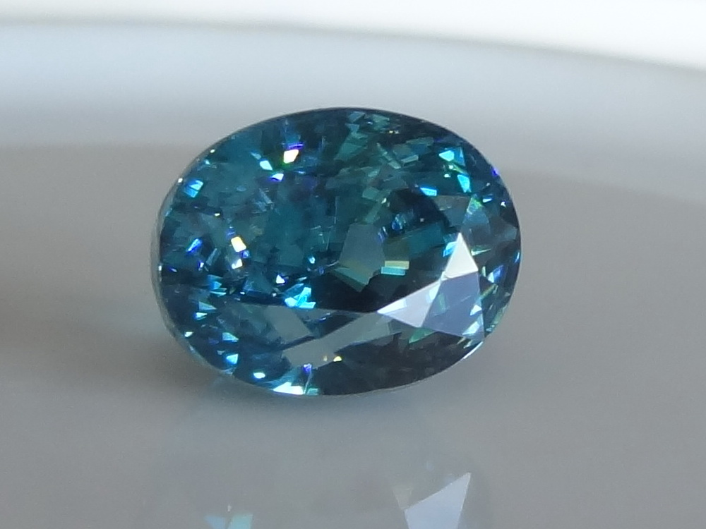 zircon blue zircon 5 68ct