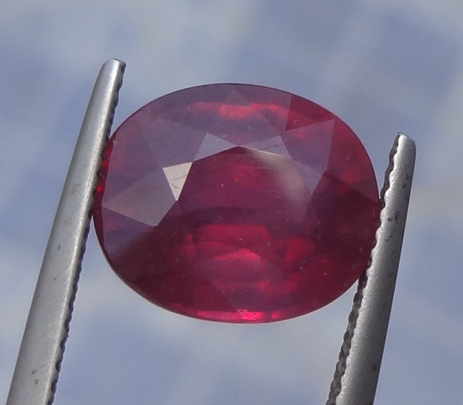 Cheap red and pink Ruby.