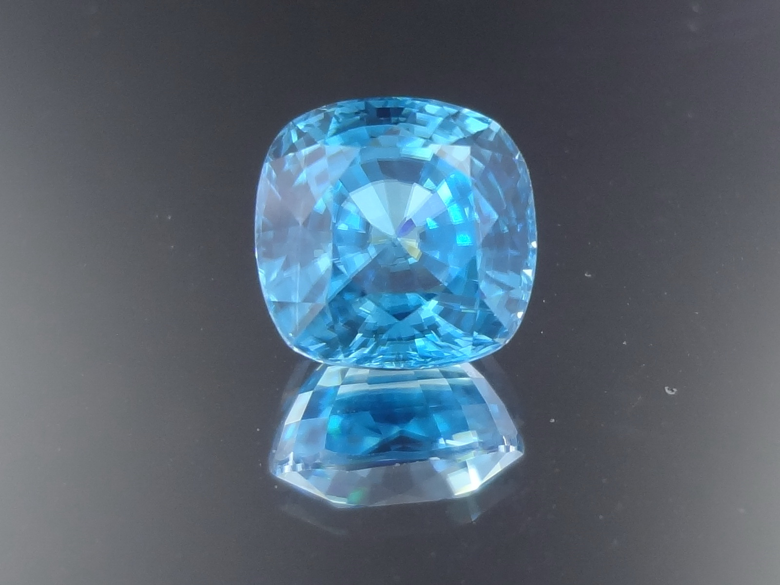 Buy Excellent Cushion Sky Blue Zircon from Cambodia 6.5ct