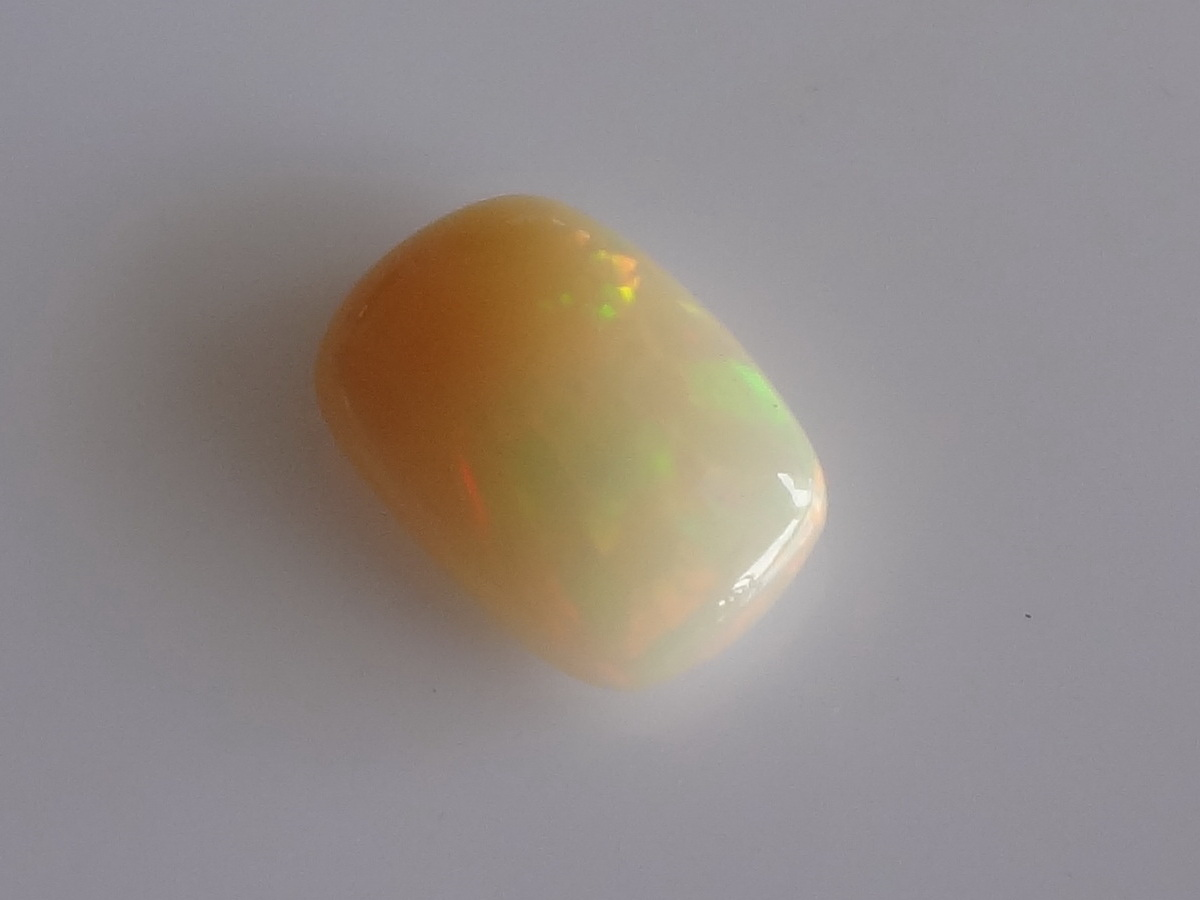 Welo Opal Cabochon from Ethiopia, fancy cut Cabochon