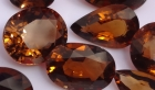 Orange/Golden faceted smoky Quartz large pieces wholesale.
