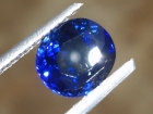 Navy blue Sapphire from Pailin