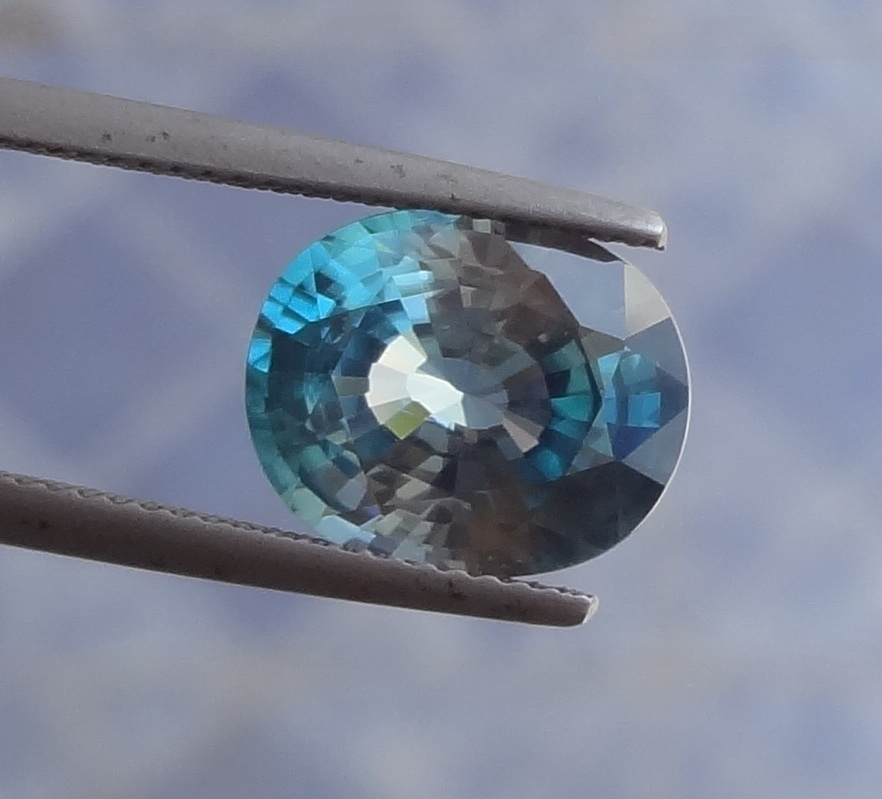 Large and wide affordable blue Zircon.
