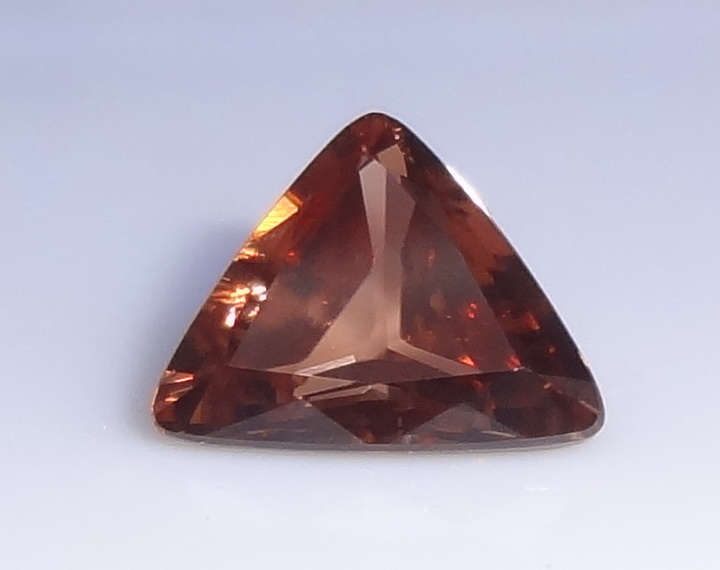 Trillion cut natural Zircon.