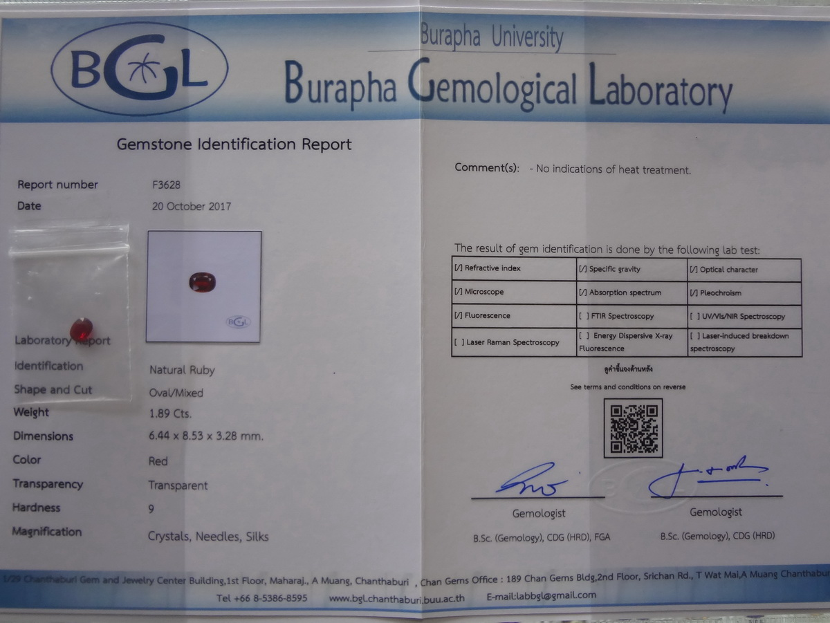 Chanthaburi Gemstone Certification / Laboratory
