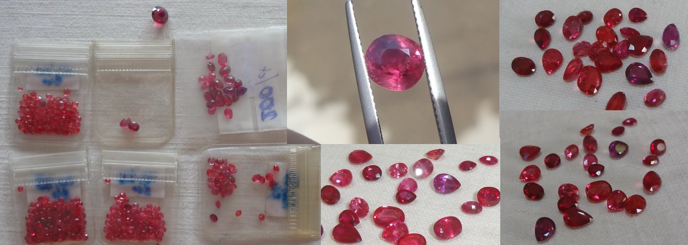 Our current stock of small size Ruby from Pailin and Mozambique