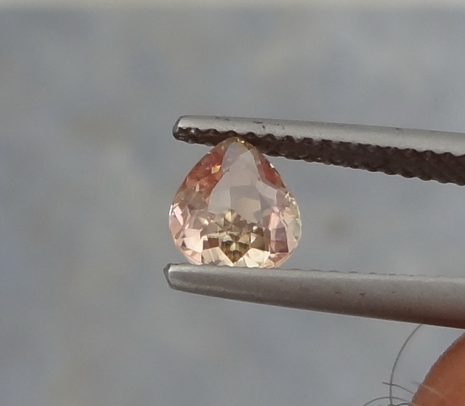 Cute clean pink Tourmaline with pear shape and nice see through color.