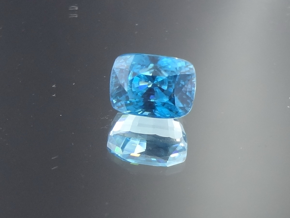 Beautiful Shiny Natural Blue Zircon for sale