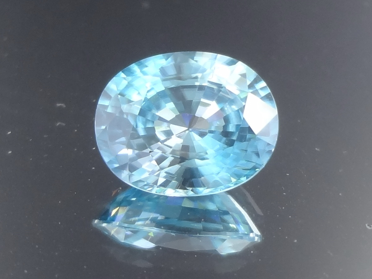 Affordable natural sky blue Zircon for sale at a discounted price.
