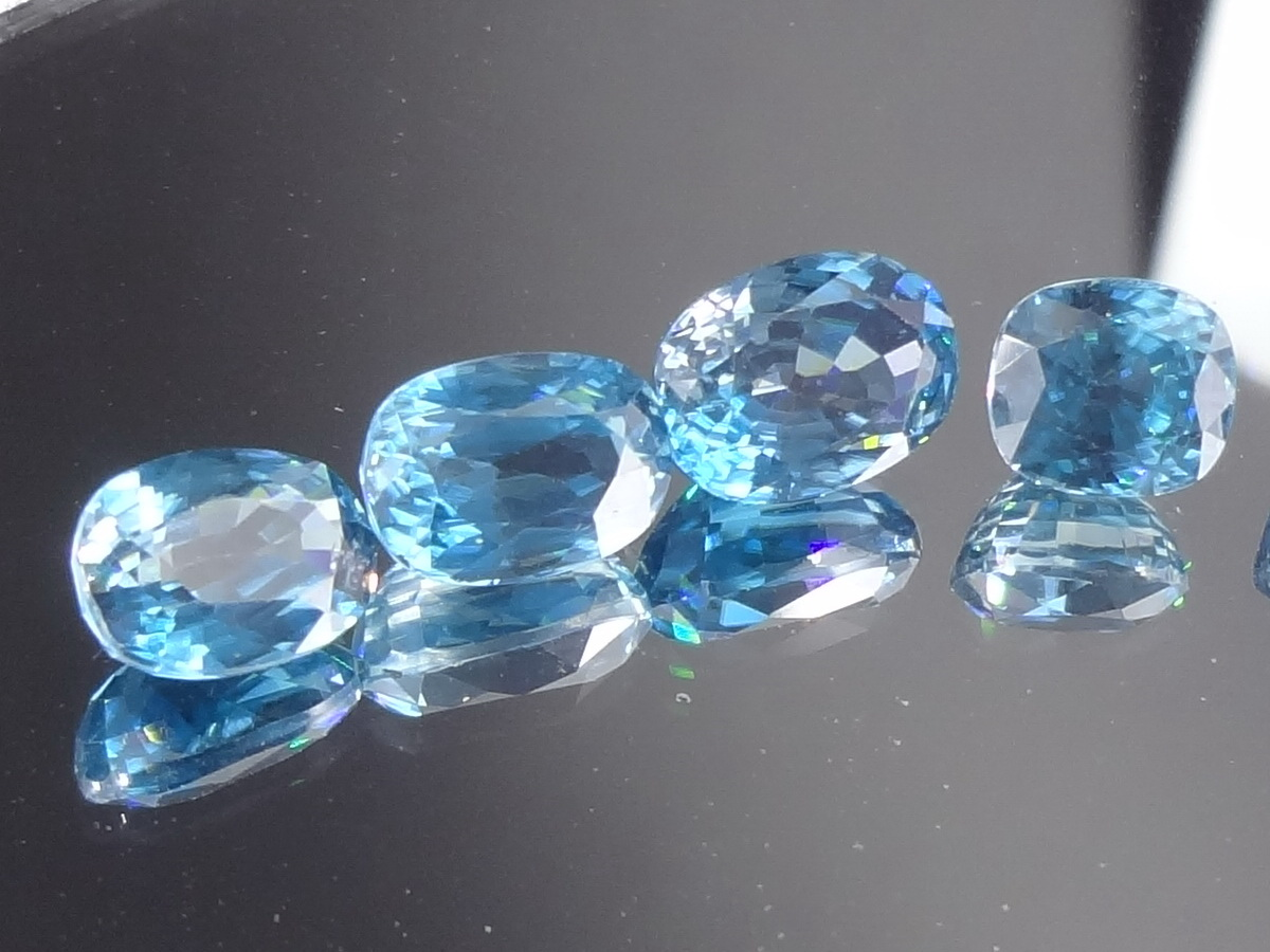 Cambodia blue Zircon wholesale lot discounted for jewelry professionals.