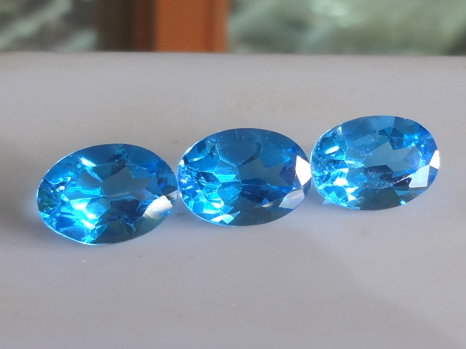 Calibrated Pair Of Swiss Blue Topaz