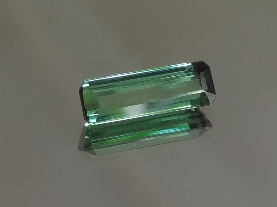 Apple green Tourmaline baguette for sale