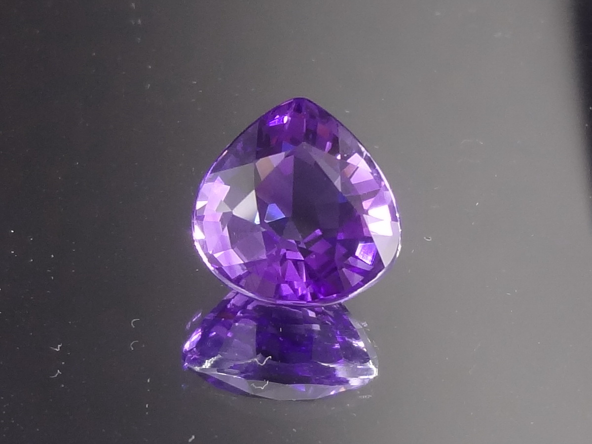 Pear Shaped Purple Purple Amethyst for Sale