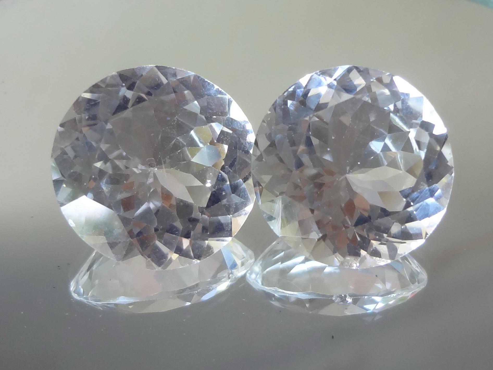 Buy Cheap White Topaz Round Diamond Cut For Earrings