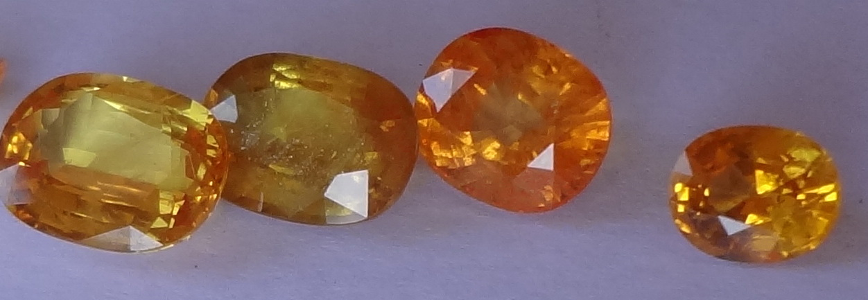 sapphire orange sri natural gemstonenew gemstone brown new lanka loose cts
