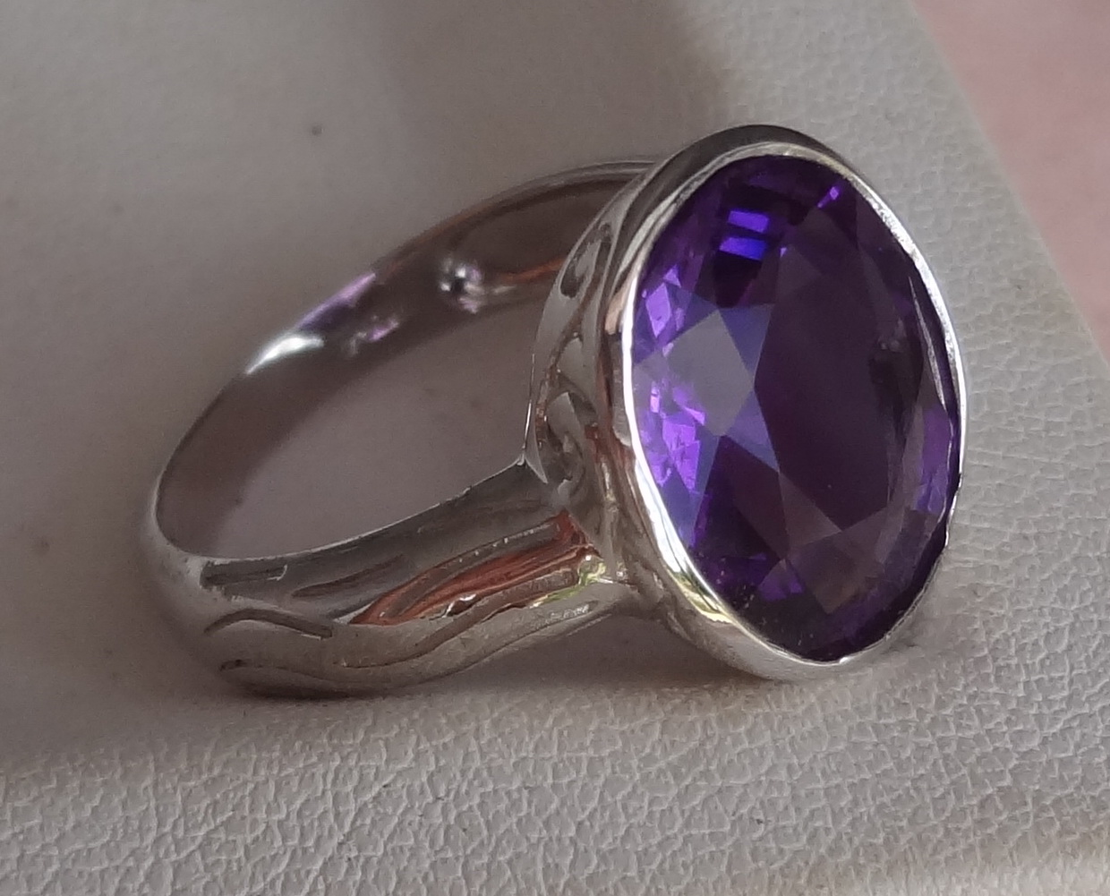 Latest Gemstones In Our Stock Amethyst Sterling Silver Ring