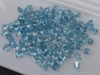 Blue Zircon Wholesale Lot, Square Cut and Calibrated at 4mm