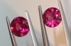 4.82 Carats Calibrated Pair of Rhodolite